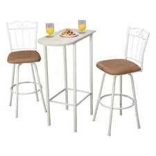 Greville 3 Piece Pub Table Set