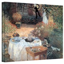 'Garden Picnic' by Claude Monet Painting Print on Canvas