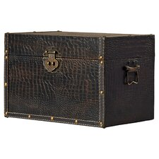 Maryport Decorative Leather Wooden Trunk
