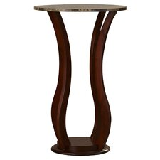 O'Neil Faux Marble Top Pedestal Plant Stand in Cherry