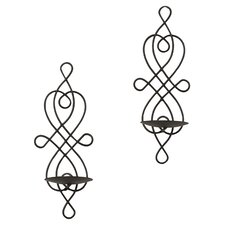 Purcell Eyer Metal Twisted Candle Sconce (Set of 2)