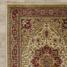 Harrop Ivory/Red Area Rug