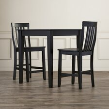 Bagwell 3 Piece Pub Table Set with Tapered Leg Table and Barstools