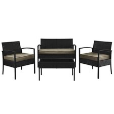 Wendell 4 Piece Seating Group with Cushions