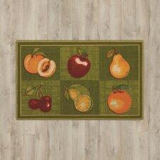 "Amberwood Green ""Fruits"" Area Rug"