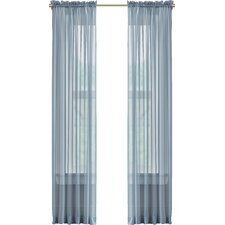 Forrester Voile Rod Pocket Sheer Curtain Panel (Set of 2)