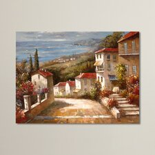 Home in Tuscany Painting Print on Canvas