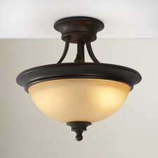 Lindenwood 2 Light Semi Flush Mount in Creek Stone
