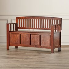 Bush Creek Solid Wood Storage Entryway Bench