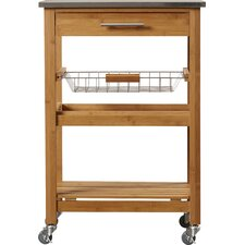 Arbor Oaks Kitchen Cart with Stainless Steel Top