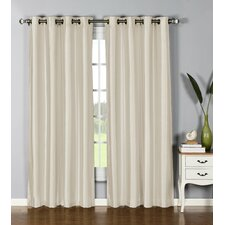 Clay Extra Wide Silk Single Curtain Panel