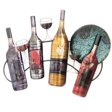 Wine Bottles and Glasses Wall Decor