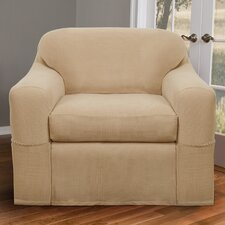 Blissfield Stretch Two Piece Armchair Slipcover
