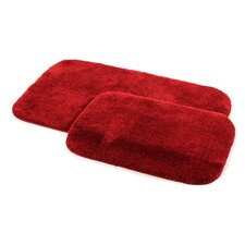 Stanley 2 Piece Red Bath Rug Set (Set of 2)