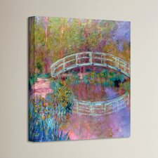 'Japanese Bridge' by Claude Monet Painting Print on Canvas