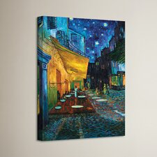 'Cafe Terrace at Night' by Vincent Van Gogh Painting Print on Canvas