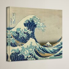 'The Great Wave of Kanagawa' by Katsushika Hokusai Painting Print on Canvas