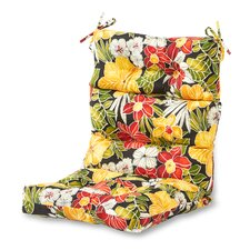 Outdoor High Back Chaise Lounge Cushion