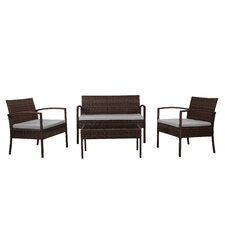 Fayette 4 Piece Wicker Seating Group with Cushions