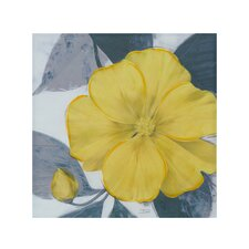 Yellow Bloom Painting Print on Canvas