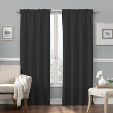 "Lanesville 42"" Synthetic Rod Pocket Blackout Curtain Valance"