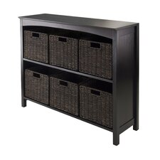 Martinsville 6 Drawers 2 Tier Storage Shelf