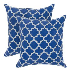 Arbogast Print Cotton Throw Pillow