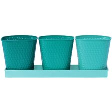 Stokes 3 Piece Round Pot Planter Set