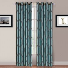 Pruitt Grommet Curtain Panel (Set of 2)