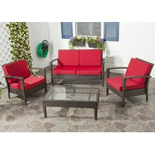 Ainaro 4 Piece Deep Seating Group Set with Cushion