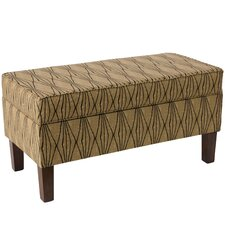 Aramingo Upholstered Storage Bedroom Bench in Hand Shapes Flax