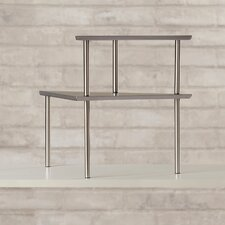 Fincastle 2 Piece Stainless Steel Corner Storage Shelf Set