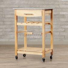 Flint Kitchen Cart with Granite Top
