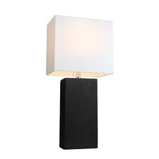 "Little Neck 21"" H Table Lamp with Rectangular Shade"