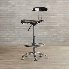 Richview Adjustable Height Drafting Task Chair with Chrome Base