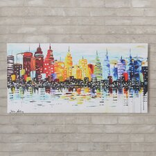 'Citylife' by Jolina Anthony Print Painting on Wrapped Canvas