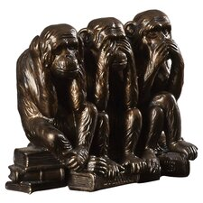 See, Hear, Speak No Evil Monkey Trio Figurine
