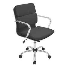 Kendall Mid-Back Leather Office Chair