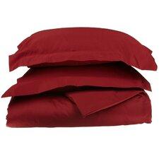 Redner 1000 Thread Count Premium Long-Staple Combed Cotton 3 Piece Solid Duvet Cover Set
