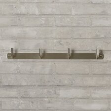 Shubert Alley 4 Hook Wall Mounted Coat Rack