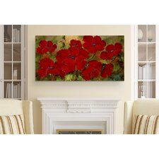 'Poppies' by Rio Print Painting on Wrapped Canvas