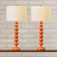 "Oakwood 31"" H Table Lamp with Drum Shade (Set of 2)"
