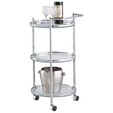 Loudon Chrome Serving Cart