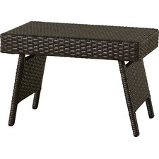 Ellington Circle Outdoor Foldable Wicker Side Table
