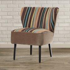 Gelston Striped Fabric Slipper Chair