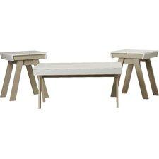 Printers Row 3 Piece Coffee Table Set