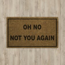 Rodin Oh No Not You Again Doormat