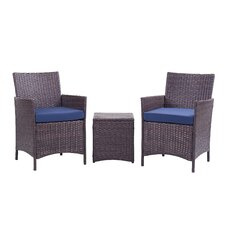 Minden 3 Piece Lounge Seating Group with Cushion