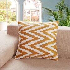 Tamworth Embroidered Chevron Dot Cotton Throw Pillow