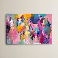 Wild Print Painting on Wrapped Canvas